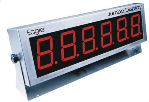 Digital Indicators With Remote Read : Jumbo display boards electronic weigh